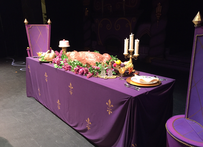 Beauty and the beast set 2015 art and fabric for Beauty and the beast table and chairs